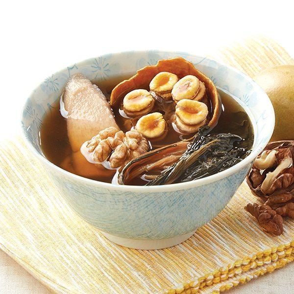 金羅漢果菜乾淮山合桃素湯