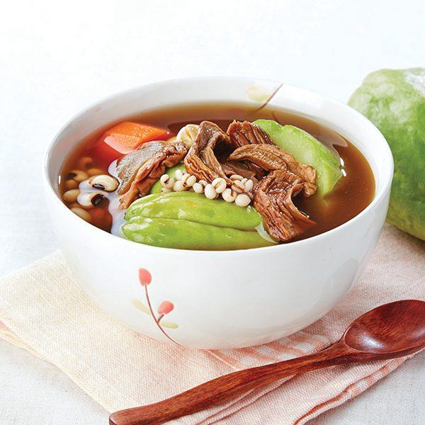 牛肝菌薏仁合掌瓜素湯
