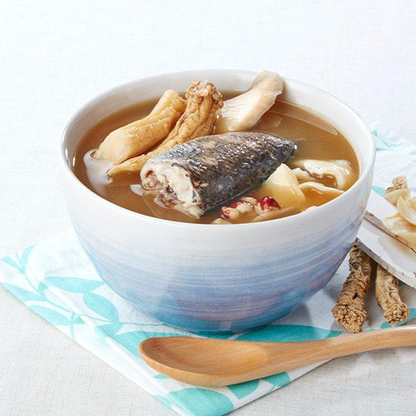 黨參淮山芡實百合山斑魚湯