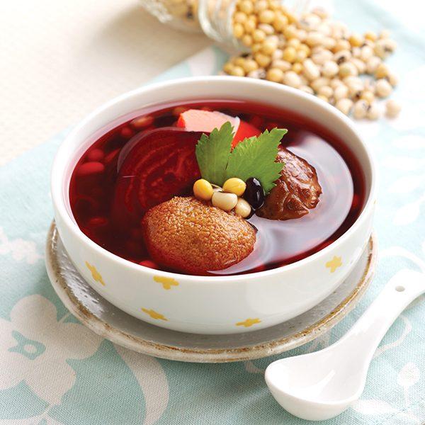 紅菜頭姬松茸雜豆素湯